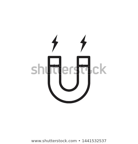 Horseshoe shaped magnet icon in simple flat style Stock photo © gomixer