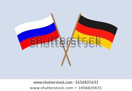 баннер два квадратный флагами Германия Россия Сток-фото © MikhailMishchenko