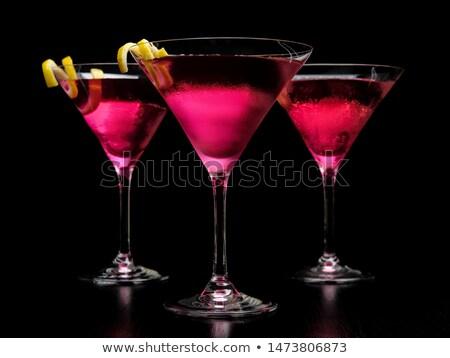 три космополитический коктейли дизайна Сток-фото © dla4