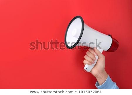 Red bullhorn Stock photo © montego
