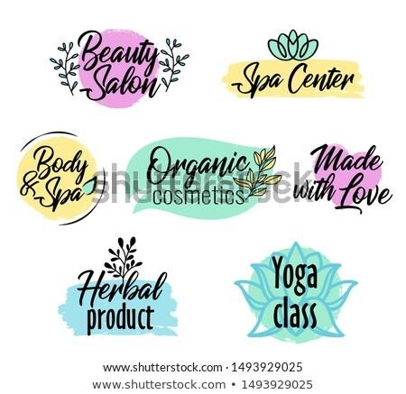 Fırçalamak stil yoga sınıf logo Stok fotoğraf © MarySan