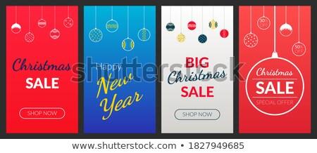 Finał christmas sprzedaży zestaw banery zimą Zdjęcia stock © robuart