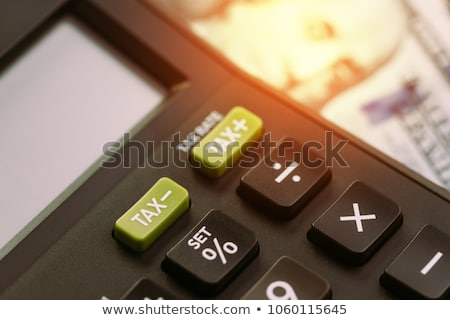 Calculate Tax Concept Stock photo © olivier_le_moal
