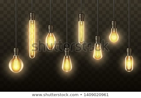 Modern pendant lamp with LED bulb Stock photo © magraphics