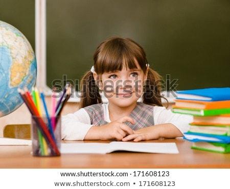 küçük · okul · dünya · yalıtılmış · beyaz · harita - stok fotoğraf © borissos