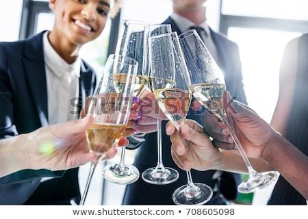 Colleghi bere champagne uomo lavoro capelli Foto d'archivio © photography33