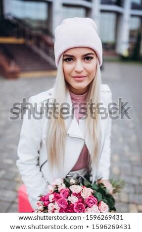 belo · mulher · jovem · isolado · branco - foto stock © juniart