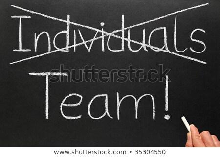 Fora indivíduos escrita equipe lousa negócio Foto stock © latent