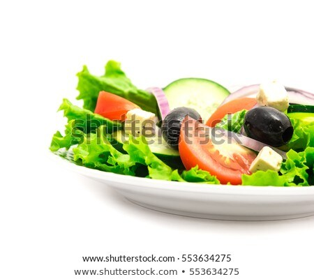 fetta cheese and green olives Stock photo © compuinfoto
