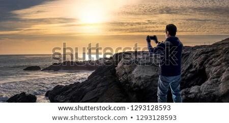 goud · kust · gebouwen · zwarte · lichten - stockfoto © kawing921