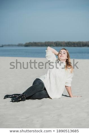 Menina praia primavera tempo mulher Foto stock © Massonforstock