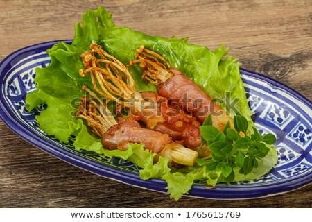 Bacon Wrapped Enoki Mushrooms Stock photo © thanarat27