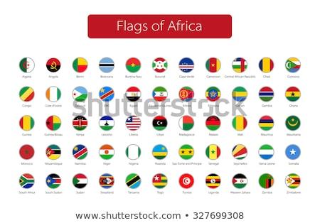 Icono bandera Botswana signo blanco Foto stock © MikhailMishchenko