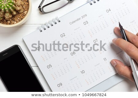 calender with pen Stock photo © get4net