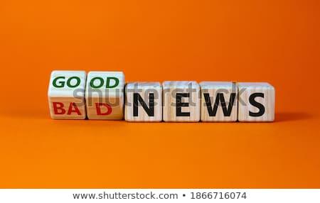 Una buena noticia mesa de madera mensaje negocios fondo noticias Foto stock © fuzzbones0