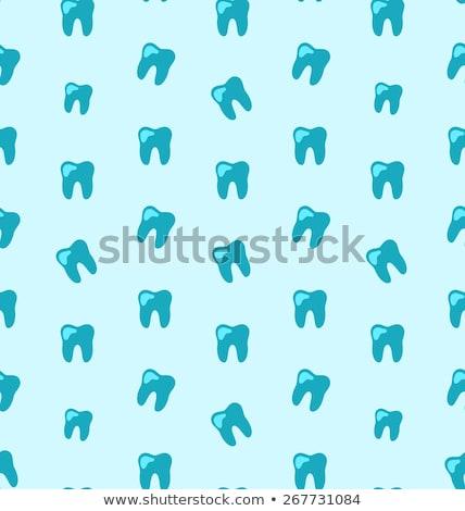красный зубов ярко дизайна врач здоровья Сток-фото © Tefi