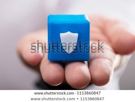 Stockfoto: Persoon · schild · icon