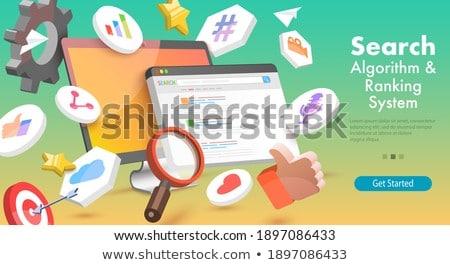 Foto stock: Algoritmo · mudar · isométrica · vetor · seo