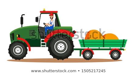 tractor husbandry machine vector illustration stock photo © robuart