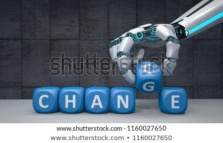 ロボット 手 変更 黒 キューブ ストックフォト © limbi007