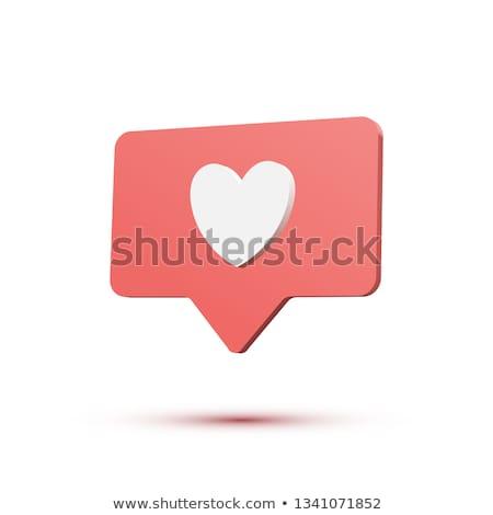 speech bubbles like share follow concept 3d stock photo © djmilic