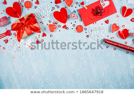 счастливым красивой красный сердцах дизайна Сток-фото © SArts