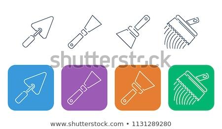 tile spatula icon vector outline illustration Stock photo © pikepicture