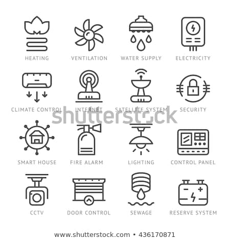 Fire Extinguisher Device Icon Outline Illustration Stock photo © pikepicture