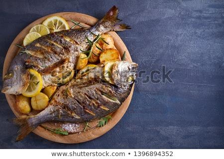 Grilled Dorado fish fillet Stock photo © olira