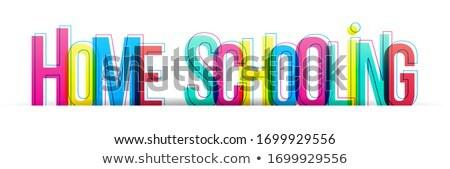 Home schooling concept banner header. Stock photo © RAStudio