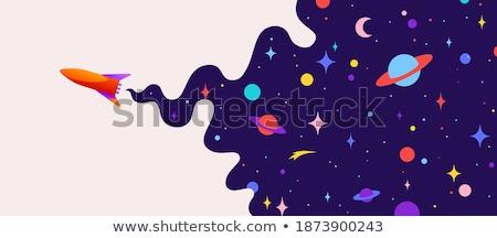 Universo motivação bandeira nuvem escuro planeta Foto stock © FoxysGraphic