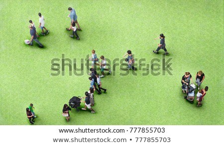 family stand outdoor in city on spring Stock photo © Paha_L