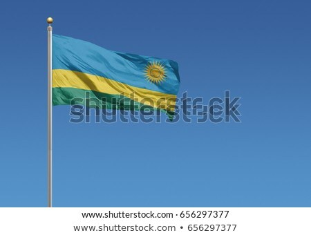 Politique pavillon Rwanda monde pays Photo stock © perysty