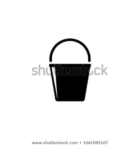 vetor · ícone · balde - foto stock © zzve