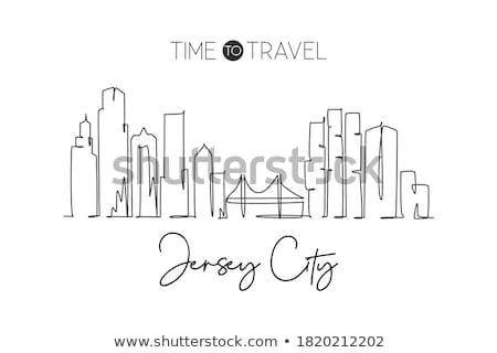 Cartoon Jersey City Stock photo © blamb