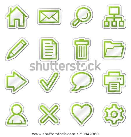 printer green vector icon button stock photo © rizwanali3d