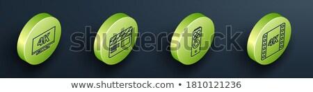 мультимедийные зеленый вектора кнопки икона дизайна Сток-фото © rizwanali3d