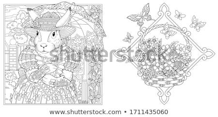 esernyők · illusztráció · terv · háttér · eső · vektor - stock fotó © loopall