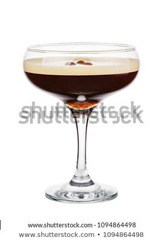 Cóctel café expreso martini cuaderno página vodka Foto stock © netkov1