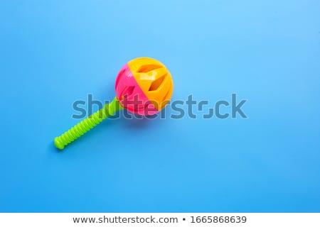 ребенка греметь иллюстрация ребенка мальчика смешные Сток-фото © adrenalina