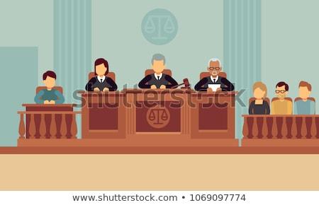 Judge in courthouse flat illustration Stock photo © vectorikart