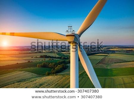 Szél generátor vidéki táj fenntartható energia tájkép Stock fotó © meinzahn