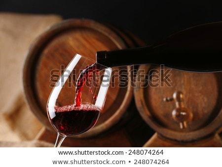 Bois baril vin rouge alimentaire bois fruits Photo stock © M-studio