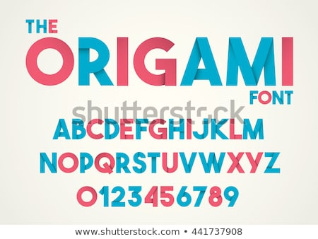 Fonte dobrado papel carta alfabeto crianças Foto stock © Ecelop