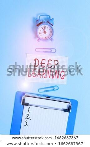 database · 3D · schrijfbehoeften · calculator - stockfoto © tashatuvango