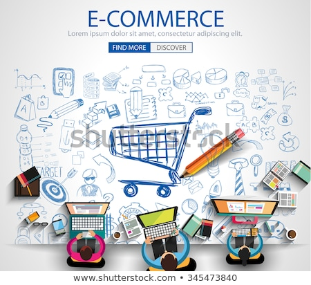 solution for e commerce concept with doodle design icons stock photo © tashatuvango