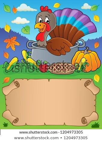 небольшой пергаменте Турция птица бумаги лист Сток-фото © clairev