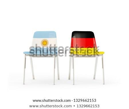 два стульев флагами Германия Аргентина изолированный Сток-фото © MikhailMishchenko