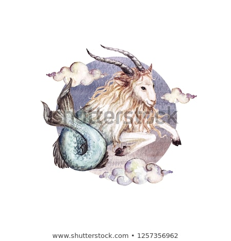 hand drawn Capricorn zodiac sign