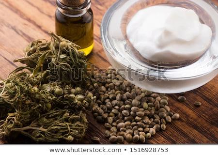 Hennep natuurlijke product cosmetische room Stockfoto © joannawnuk